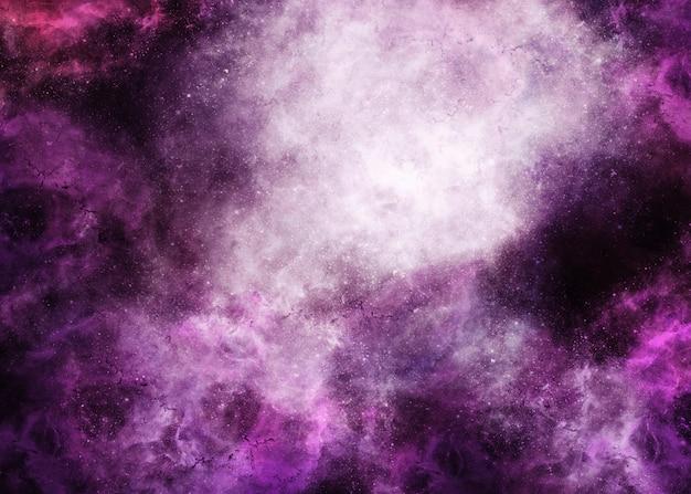Roxo e vista superior da nebulosa