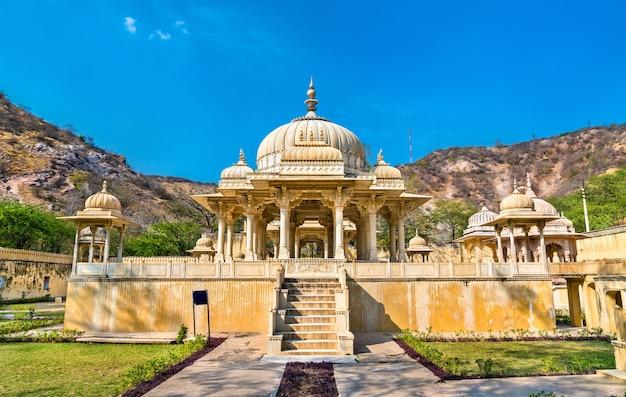Royal gaitor, um cenotáfio em jaipur, rajasthan, estado da índia