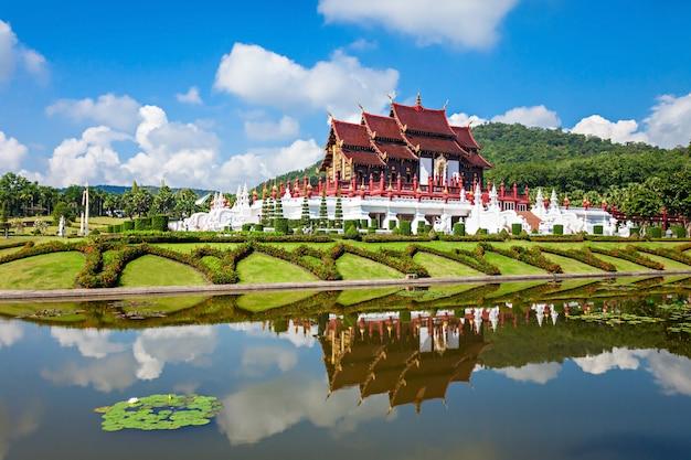 Royal park rajapruek temple em chiang mai, na tailândia