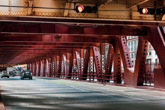 Rua colorida em chicago