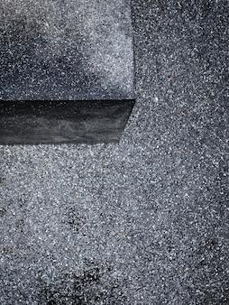 Rua com vista aérea de pedras minúsculas