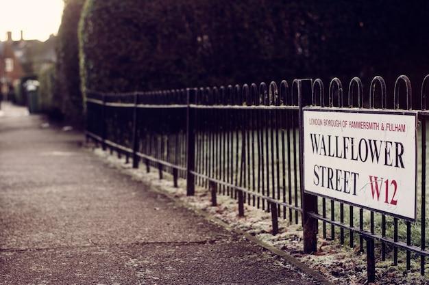 Rua congelada em uma manhã em londres