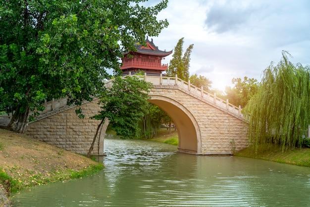 Rua da cidade antiga de yangzhou, china