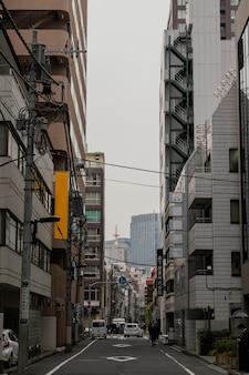 Rua e edifícios do japão