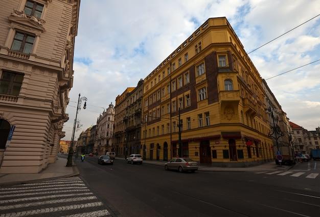 Rua em praga, república tcheca
