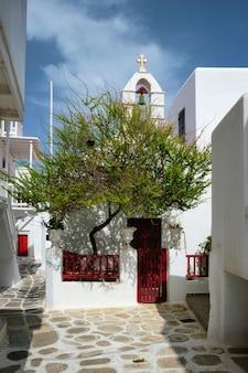 Rua grega na ilha de mykonos