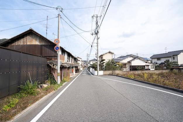 Rua na cidade velha em hiroshima japão