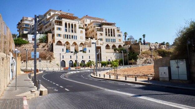 Rua perto do porto e da velha jaffa, israel.