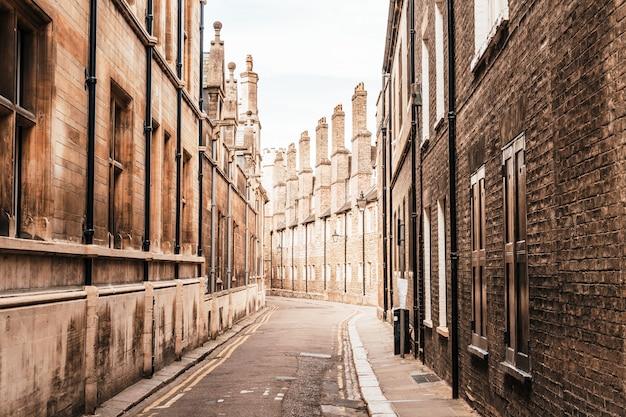 Rua velha da trindade em cambridge, reino unido.