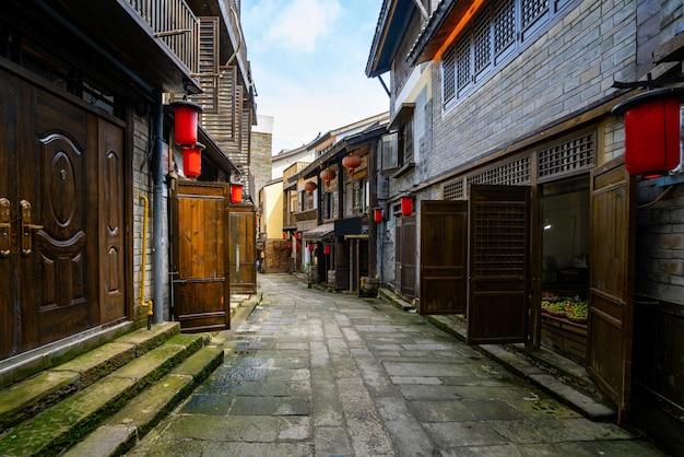 Ruas da antiga cidade de nanshan em chongqing