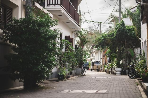 Ruas de galle sem turistas uma cidade cristã vazia covid 2021 turismo