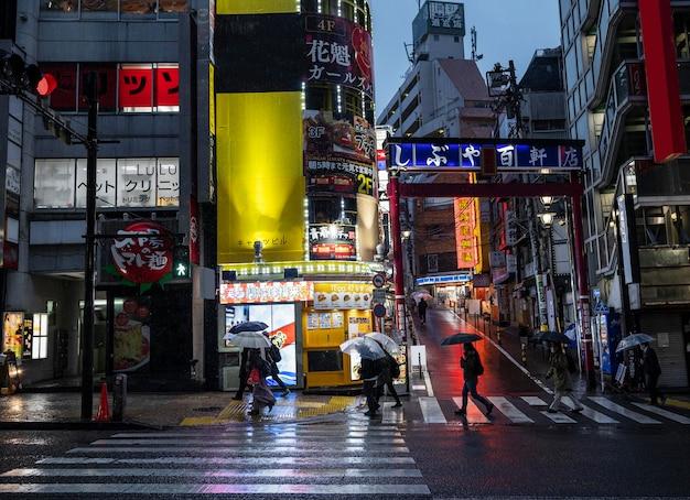 Ruas de paisagem urbana do japão