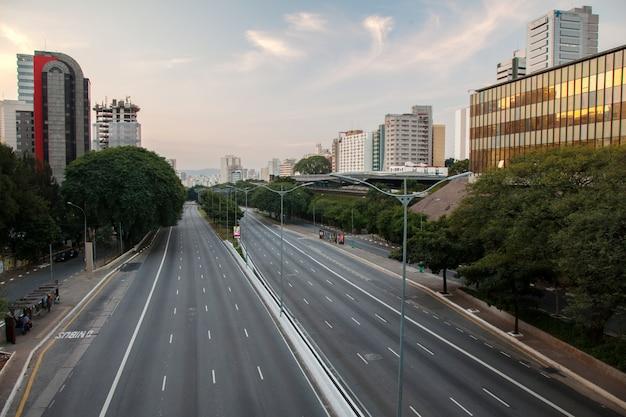 Ruas vazias em são paulo - brasil