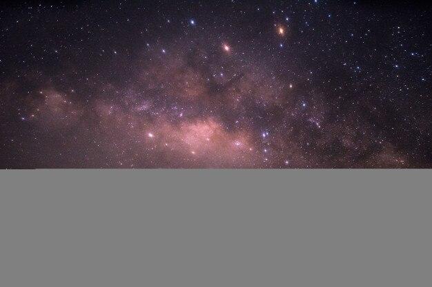 Ruído da estrela via láctea no período nocturno