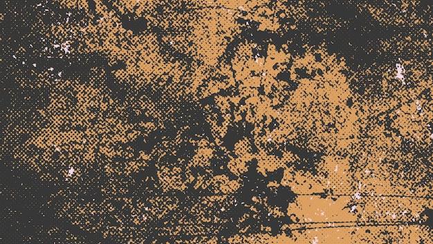 Ruídos e salpicos amarelos abstratos, fundo escuro do grunge