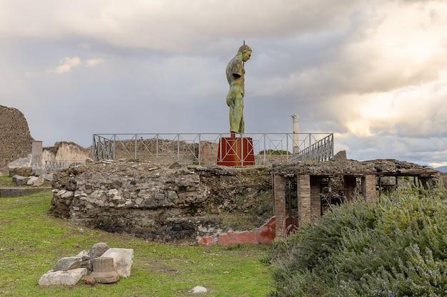 Ruína arqueológica da antiga cidade romana de pompéia