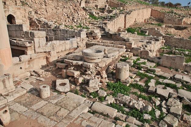 Ruínas antigas amathus em limassol, chipre