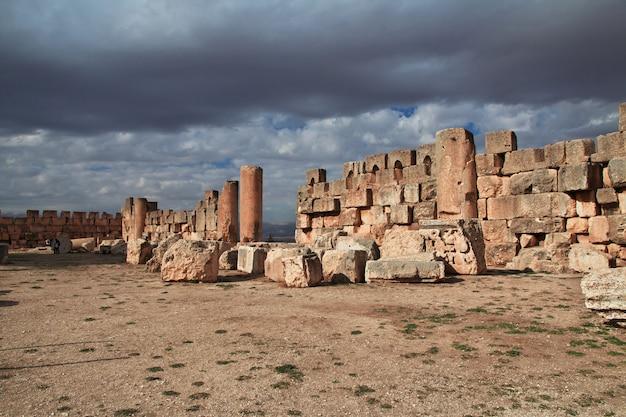Ruínas antigas de baalbek, líbano