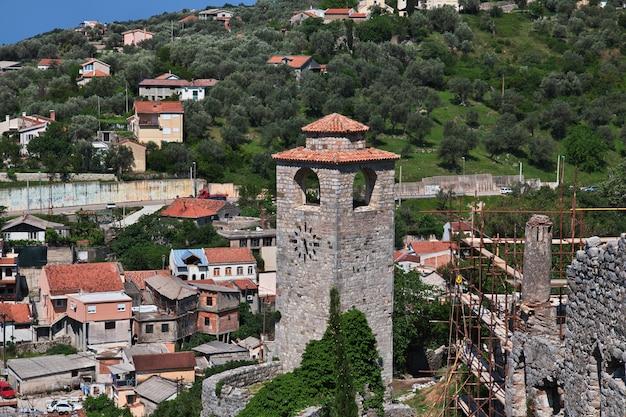 Ruínas antigas de stari bar, montenegro