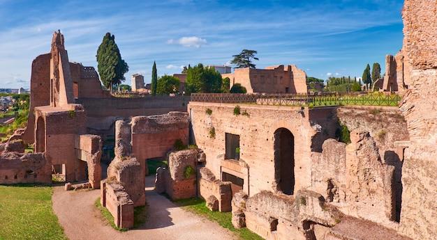 Ruínas antigas no monte palatino, roma