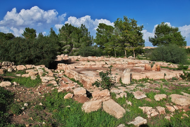 Ruínas antigas salamis, chipre do norte