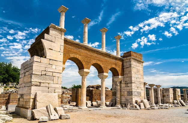 Ruínas da basílica de são joão em éfeso - selcuk, turquia