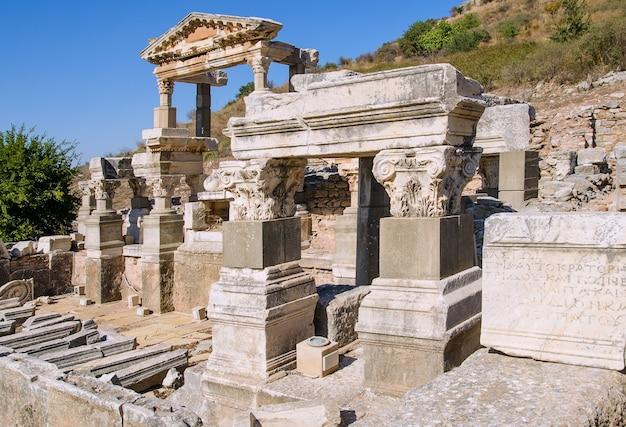 Ruínas da cidade antiga efes efesus na turquia