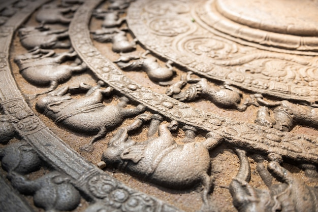 Ruínas da cidade histórica de polonnaruwa, sri lanka