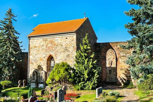 Ruínas da igreja de são nikolai em bautzen, saxônia, alemanha