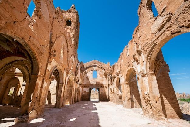 Ruínas de belchite, espanha, cidade em aragão que foi completamente destruída durante a guerra civil espanhola.