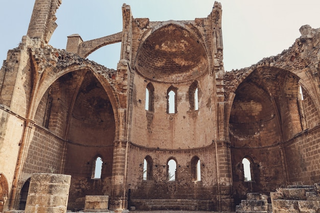 Ruínas, de, igreja, de, st george, de, a, gregos, igreja, famagusta, norte, chipre