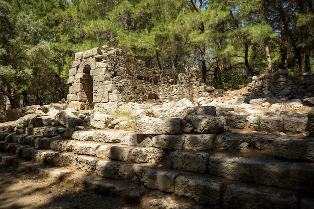 Ruínas de phaselis antigo.