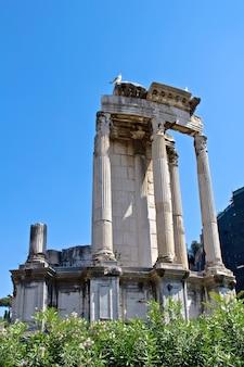 Ruínas do antigo fórum romano, roma, itália