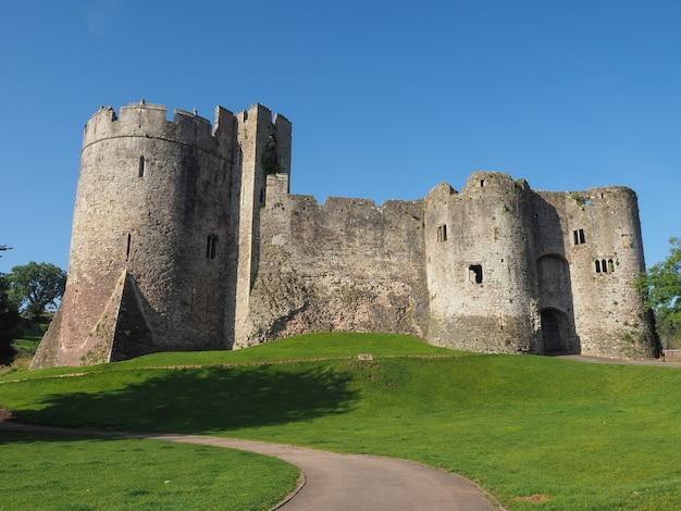 Ruínas do castelo de chepstow em chepstow