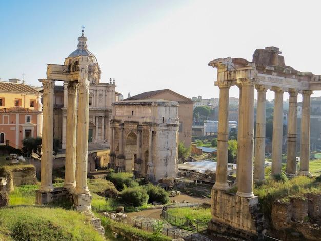Ruínas do fórum romano na itália