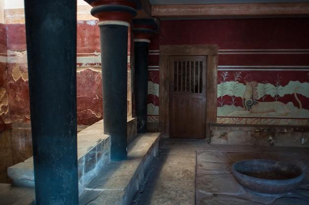 Ruínas do labirinto do minotauro em creta.