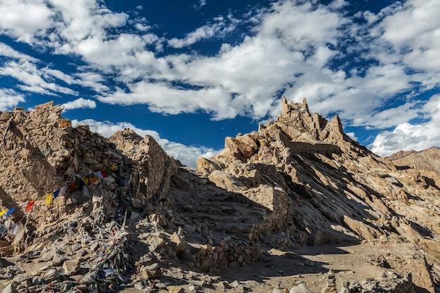 Ruínas do palácio shey ladakh índia