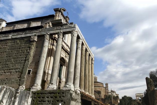 Ruínas do palatino em roma, itália