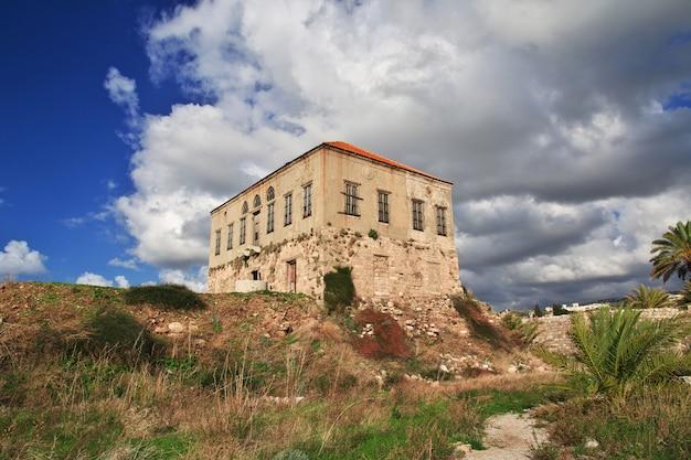 Ruínas romanas antigas em byblos, líbano