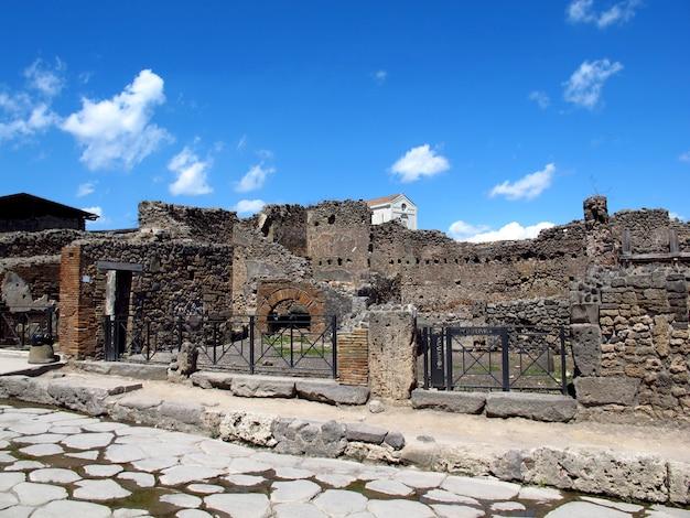Ruínas romanas antigas em pompéia, itália