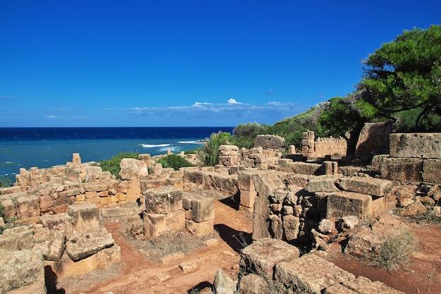 Ruínas romanas de pedra e areia na argélia