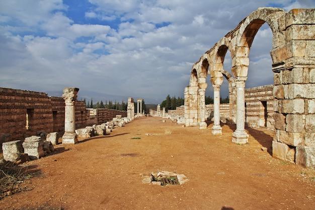 Ruínas romanas em anjar, líbano