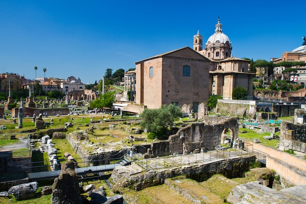 Ruínas romanas em roma, itália