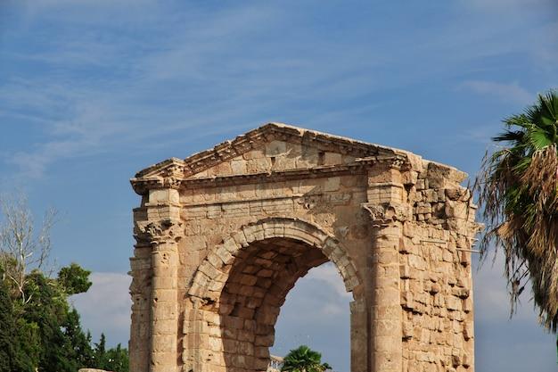 Ruínas romanas em tiro (azedo), líbano