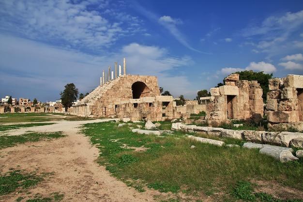 Ruínas romanas em tyre sour do líbano