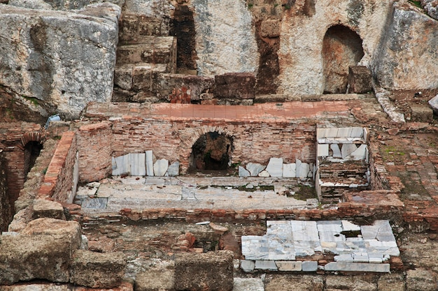 Ruínas romanas na cidade de beirute, líbano