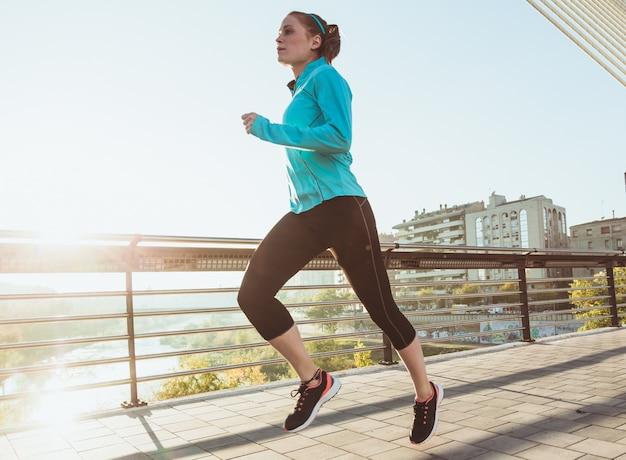 Running esportista jovem