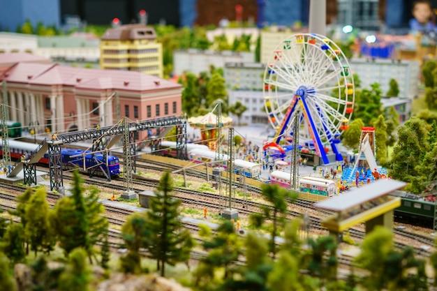 Rússia em miniatura grande layout em são petersburgo