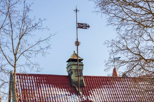 Rússia. vyborg. 03.03.2021 arquitetura da cidade em um dia de sol. foto de alta qualidade