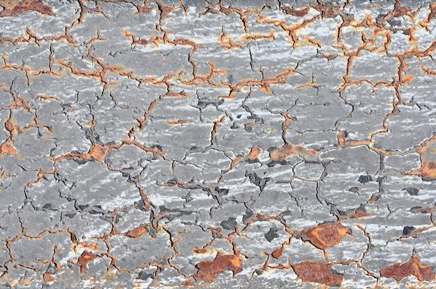 Rusty metal crack painel textura para o projeto de plano de fundo